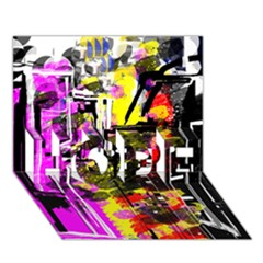 Abstract City View HOPE 3D Greeting Card (7x5)