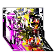 Abstract City View You Rock 3D Greeting Card (7x5)