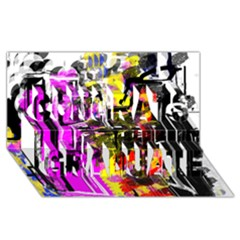 Abstract City View Congrats Graduate 3D Greeting Card (8x4)