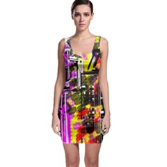 Abstract City View Bodycon Dresses