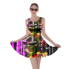 Abstract City View Skater Dresses