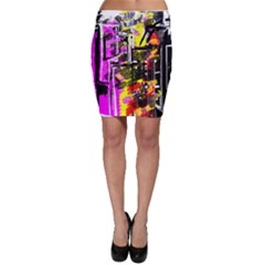 Abstract City View Bodycon Skirts