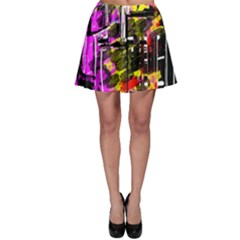 Abstract City View Skater Skirts