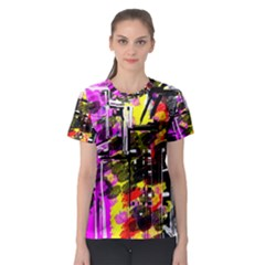 Abstract City View Women s Sport Mesh Tees