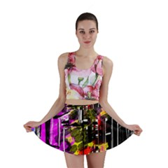 Abstract City View Mini Skirts