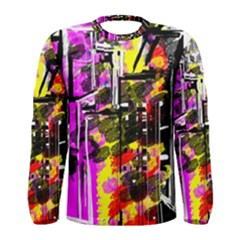 Abstract City View Men s Long Sleeve T-shirts