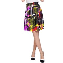 Abstract City View A-Line Skirts