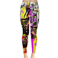 Abstract City View Winter Leggings