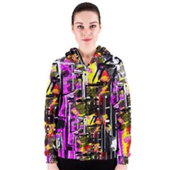 Abstract City View Women s Zipper Hoodies