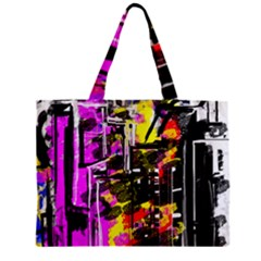 Abstract City View Zipper Tiny Tote Bags