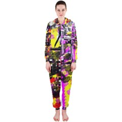 Abstract City View Hooded Jumpsuit (Ladies)