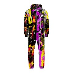 Abstract City View Hooded Jumpsuit (Kids)