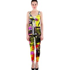 Abstract City View Onepiece Catsuits