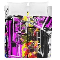 Abstract City View Duvet Cover (full/queen Size)