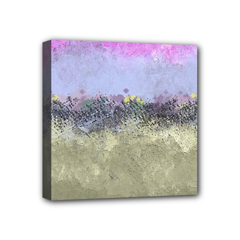 Abstract Garden In Pastel Colors Mini Canvas 4  X 4
