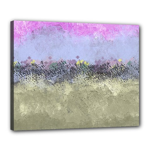 Abstract Garden In Pastel Colors Canvas 20  X 16