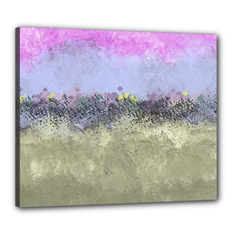Abstract Garden In Pastel Colors Canvas 24  X 20