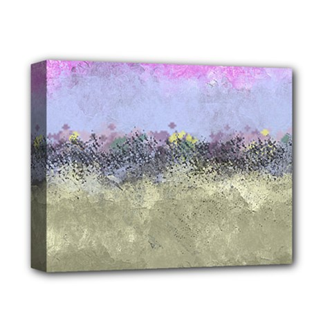 Abstract Garden In Pastel Colors Deluxe Canvas 14  X 11
