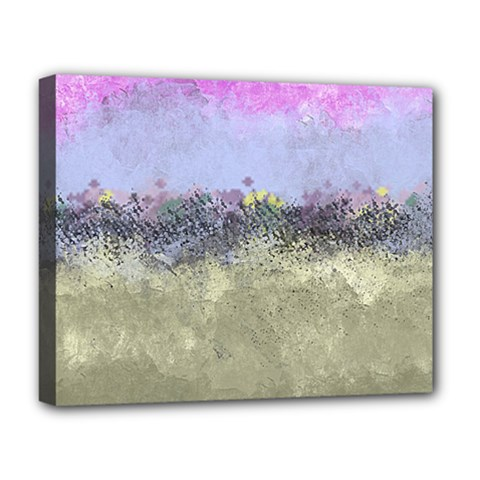 Abstract Garden in Pastel Colors Deluxe Canvas 20  x 16