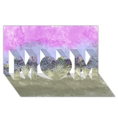 Abstract Garden in Pastel Colors MOM 3D Greeting Card (8x4)