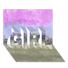 Abstract Garden in Pastel Colors GIRL 3D Greeting Card (7x5)