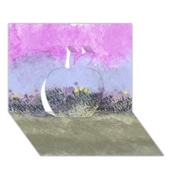 Abstract Garden In Pastel Colors Apple 3d Greeting Card (7x5)
