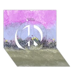 Abstract Garden in Pastel Colors Peace Sign 3D Greeting Card (7x5)