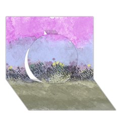 Abstract Garden in Pastel Colors Circle 3D Greeting Card (7x5)