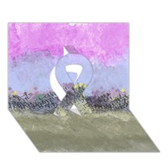 Abstract Garden In Pastel Colors Ribbon 3d Greeting Card (7x5)