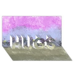 Abstract Garden In Pastel Colors Hugs 3d Greeting Card (8x4)