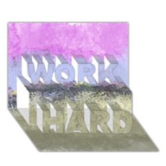 Abstract Garden in Pastel Colors WORK HARD 3D Greeting Card (7x5)