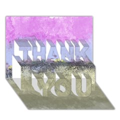 Abstract Garden in Pastel Colors THANK YOU 3D Greeting Card (7x5)