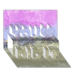 Abstract Garden in Pastel Colors You Did It 3D Greeting Card (7x5)