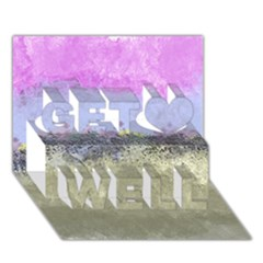 Abstract Garden In Pastel Colors Get Well 3d Greeting Card (7x5)