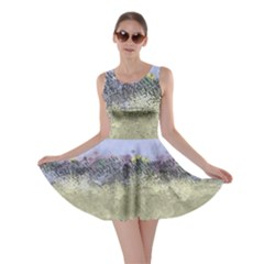 Abstract Garden in Pastel Colors Skater Dresses