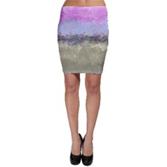 Abstract Garden In Pastel Colors Bodycon Skirts