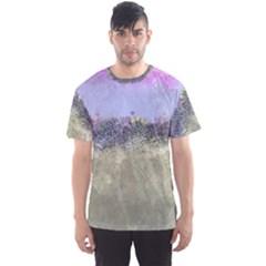 Abstract Garden in Pastel Colors Men s Sport Mesh Tees