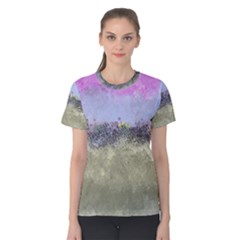Abstract Garden in Pastel Colors Women s Cotton Tees