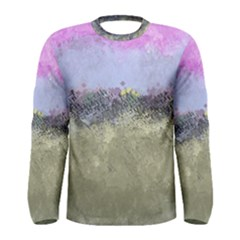 Abstract Garden In Pastel Colors Men s Long Sleeve T Shirts