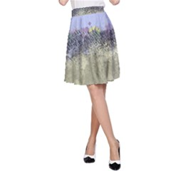 Abstract Garden in Pastel Colors A-Line Skirts