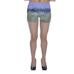 Abstract Garden in Pastel Colors Skinny Shorts