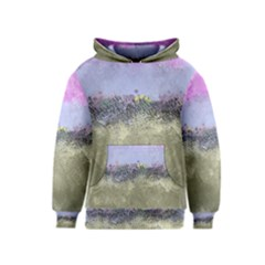 Abstract Garden In Pastel Colors Kid s Pullover Hoodies