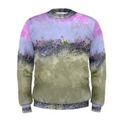 Abstract Garden in Pastel Colors Men s Sweatshirts