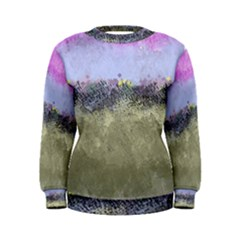 Abstract Garden in Pastel Colors Women s Sweatshirts