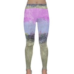 Abstract Garden In Pastel Colors Yoga Leggings