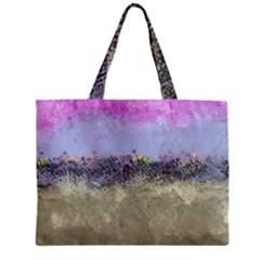 Abstract Garden In Pastel Colors Zipper Tiny Tote Bags