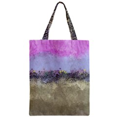 Abstract Garden in Pastel Colors Zipper Classic Tote Bags