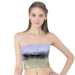 Abstract Garden in Pastel Colors Women s Tube Tops