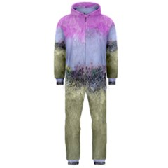 Abstract Garden in Pastel Colors Hooded Jumpsuit (Men)