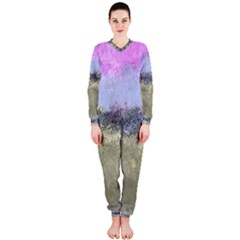 Abstract Garden in Pastel Colors OnePiece Jumpsuit (Ladies)